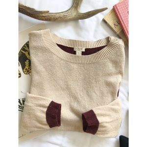 J. Crew Colorblock Elbow Patch Sweater